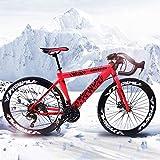 """MTWOLF Road Bikes, 26"""" Wheel Road Bike Full Steel Racing Bike Road Bicycle"""
