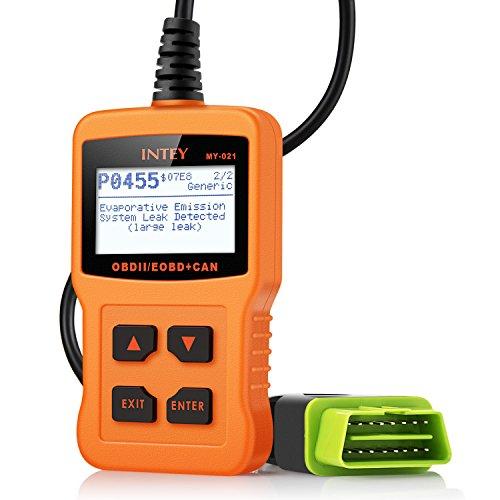INTEY CAN OBD2/EOBD Diagnosegerät zum Lesen und Löschen von Fehlercodes Diagnose für allen PKWs mit OBD II Protokolle und mit standardem 16-pin OBD-II Schnittstelle BJ. ab 2000 Test