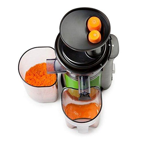 Profi Fruchtpresse + Gemüsepresse BPA-Frei, Slow-Juicer für MEHR Vitamine, MEHR Geschmack, MEHR Saft, spezielles Presssystem – Geschwindigkeit: 60 Umdrehungen pro Minute - 5