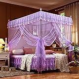Moskitonetz Doppelbett,Feinmaschiges Kasten großes Mückennetz für Bett,feinste Löcher,rechteckiger Netzvorhang Reise,Insektenschutz,3 Einträge,einfache Anbringung,Keine...