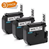 3x Brother p-touch 65 bänder kompatibel M-K221 MK-221 MK221 9mm 3/8