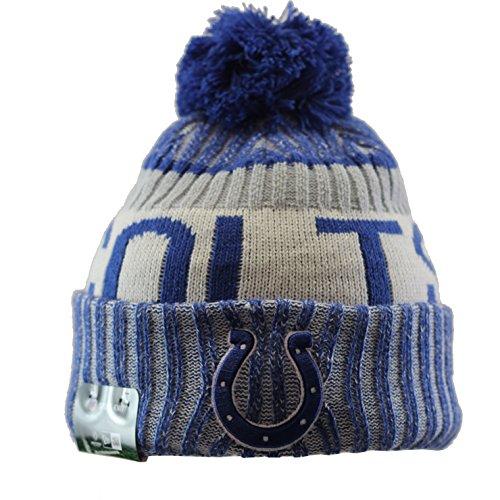 New Era Indianapolis Colts Bommelmütze - NFL Sideline - Blau, Blau, Einheitsgröße