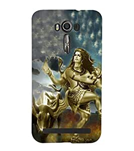 Bhagwan Shankar in Tandav 3D Hard Polycarbonate Designer Back Case Cover for Asus Zenfone 2 Laser ZE550KL (5.5 INCHES)