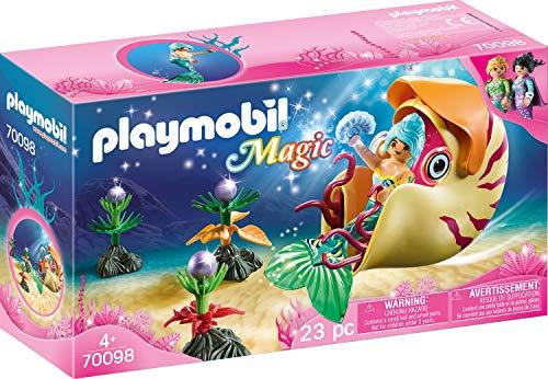 Playmobil 70098Magic Sirena con Caracol Góndola