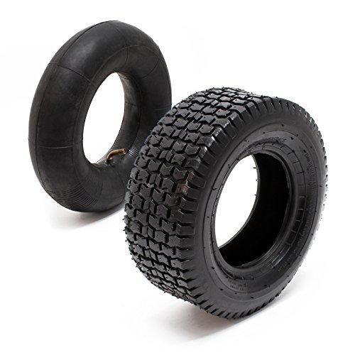 Reifen für den Aufsitzmäher 16x6.50-8 4pr mit Schlauch und Winkelventil Komplettrad Rasentraktor