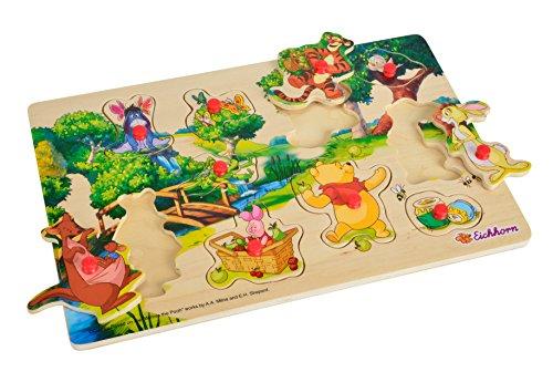Eichhorn - 100003328 - Puzzle à buttons - Winnie the Pooh en Bois - 11 pièces