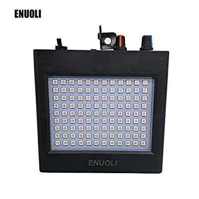ENUOLI Ultra Bright White LED Strobe Lights 25W 108 LEDs Super Bright Mixed Flash Stage Lighting with Manual & Sound Activated Mode & Adjustable Flash Speed Control for Bar Xmas Wedding Club