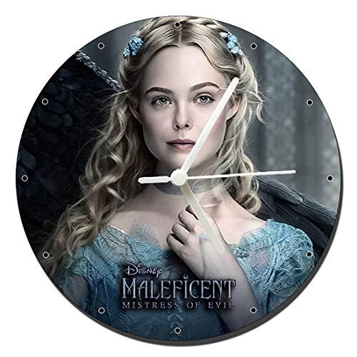 Maleficent 2 Mistress of Evil Princess Aurora Elle Fanning Wanduhren Wall Clock 20cm