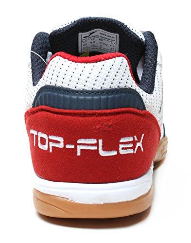 Joma Top Flex, Scarpe da Calcetto Unisex – Adulto Bianco