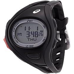 Asics CQAR0310 - Reloj con correa de acero para hombre, color negro/gris