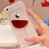 KC Soft Transparent Liquid Wine Glass Designer Silicon Case for iPhone SE