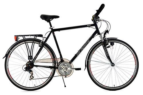 KS Cycling Herren Fahrrad Trekkingrad Vegas RH 58 cm Multipositionslenker, Schwarz, 28, 102T
