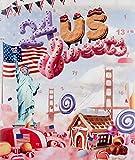 Amerikanischer Adventskalender I US Weihnachtskalender American Candy mit 24 Süßigkeiten aus den USA Sweets I Geschenkset für Erwachsene Kinder I Weihnachtszeit Adventszeit