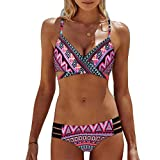 72400593a3a5 BlueSterCool Costumi da Bagno Donna Due Pezzi Bikini Donna Mare Beachwear  Push-up Reggiseno Imbottito