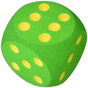 Volley Dado de gomaespuma 16 cm – Azul – Verde – Rojo