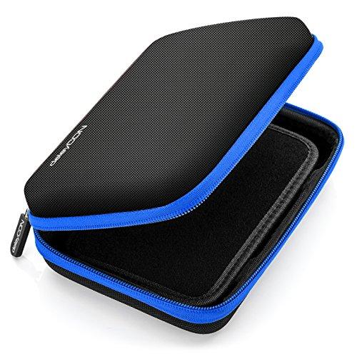 deleyCON Navi Tasche Navi Case Tasche für Navigationsgeräte - 6 Zoll & 6,2 Zoll (17x12x4,5cm) - Robust & Stoßsicher - 1 Innenfach - Blau