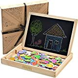 Set per attività manuale con puzzle in legno e aree di disegno, per stimolare la creatività, tavole da disegno giocattolo per tutti i bambini, ragazzi e ragazze da 3, 4, 5, 6, 7, 8 anni