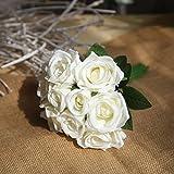 OPUSS Kunstblumen, Strauß, 【. Für Blumenstrauß, für Hochzeit, Braut, Brautjungfer, Kunstblume, Dekoration, 01#, 27*4*7cm
