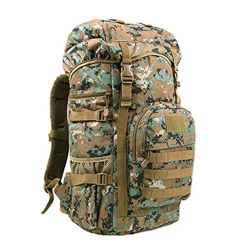 zaino trekking 50L / Uomini e donne spalle di grande capienza posteriore esterna Zaino Trekking Deposito Bag Zaini da escursionismo ( Colore : C , dimensioni : 50L-35*24*60cm ) B