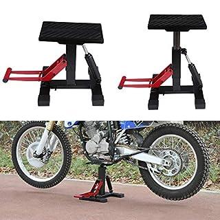 Zerone Adjustable MX Lift Stand, Motorcycle Motor Bike Stand Scissor Lift Jack Workshop, Adjustable Lift Jack Lift Stand Repairing Table for Adventure Touring Motorcycle Street Bike, Capacity 330 lbs