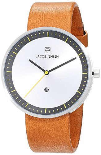 jacob-jensen-strata-mens-quartz-watch-with-silver-dial-analogue-display-and-brown-leather-strap-271