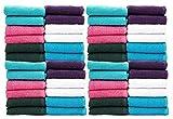 #10: Casa Copenhagen-Basics Set of 100 Pcs Face Towels-(Assorted Any 100 Pcs Face Towels