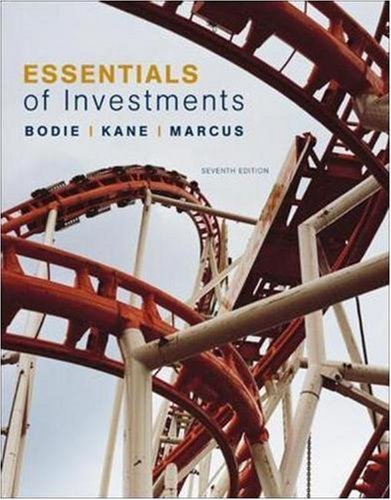 Essentials of Investments with S&P bind-in card (Irwin/McGraw-Hill Series in Finance, Insurance and Real Estate) 7th by Bodie, Zvi, Kane, Alex, Marcus, Alan (2007) Hardcover