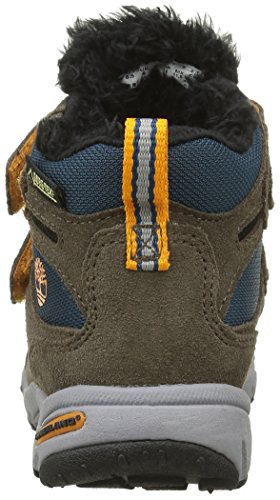 Timberland Ossipee Mid 2 Strap, Chaussures avec Fermeture Velcro Mixte Enfant Marron (Canteen)