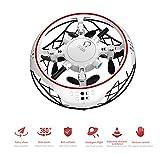 WMWHALE Mini Drone Volant UFO Induction intérieur Hover Pocket Drone Télécommande pour garçons RC Quadcopter pour Enfants Jouets RC Débutant Enfants Cadeaux,Blanc