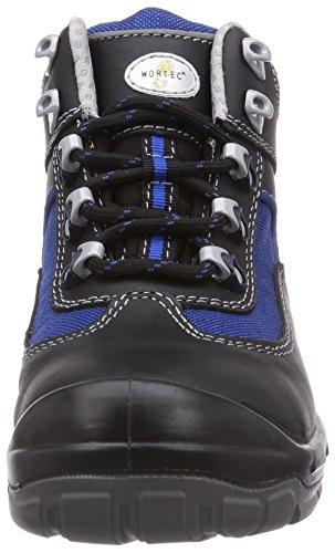 Wortec - Scarpe antinfortunistiche Alex S2, Unisex - adulto Nero (Schwarz (schwarz/blau))