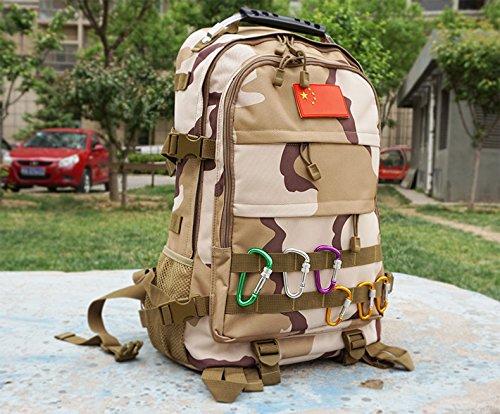Bergsteigen bag Schulter wasserabweisend Outdoor camouflage Rucksack attack wasserdichte Tasche 50 * 35 * 16 cm, digital Camouflage Jungle Camouflage