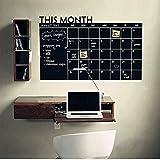 Zantec Lavagna con calendario mensile per pianificazioni, adesivo, calendario da parete,per la cucina, ufficio, calendario familiare, per i bambini oppure da mettere sul frigorifero