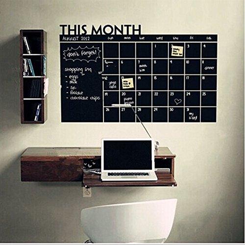 Zantec Monatsplaner/Planungstafel/Aufkleber/Wandkalender/Küche/Büro/Familienkalender/Kinderkalender/Kühlschrank
