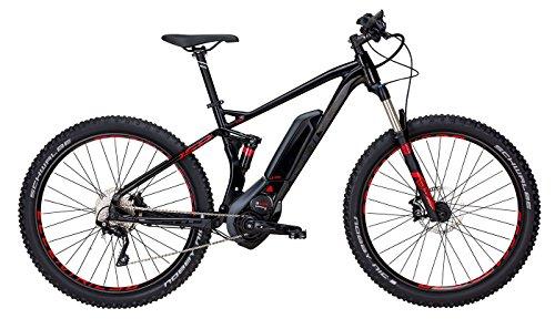 Herren E-Mountainbike 27.5+ Zoll shwarz - E-Bike Bulls SIX50+ E FS 2 - Akkukapazität 500Wh