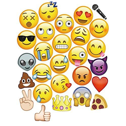 27pcs Emoji-Faces Foto-Requisiten für Hochzeit Geburtstag Party Events, durch trimmen Shop Billig Glas-rohre, Die Für Das Rauchen