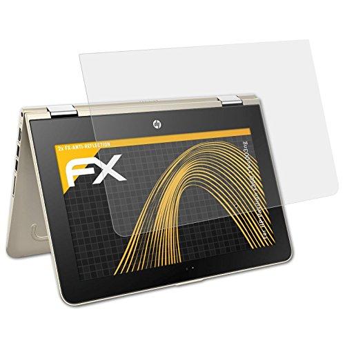 atFolix Panzerfolie kompatibel mit HP Pavilion x360 13-u003ng Schutzfolie, entspiegelnde & stoßdämpfende FX Folie (2X)