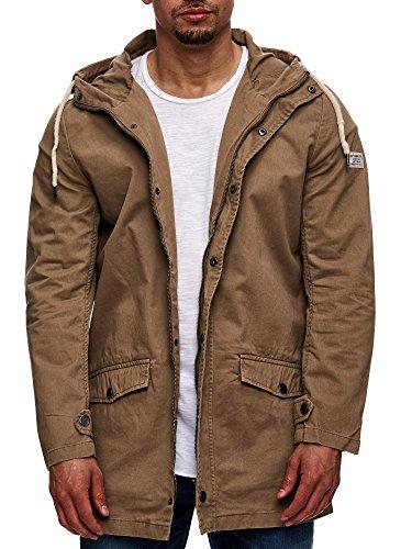 Eight2Nine Herren Parka mit Kapuze Übergangsjacke Outdoorjacke Jacke Kapuzenjacke Mantel Beige S M L XL XXL - 4
