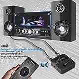 BOIROS Bluetooth Adapter Audio 5.0 - Transmitter und Empfänger 2 in 1 Sender Receiver mit Optischem Toslink/SPDIF, aptX HD und aptX LL, HiFi Splitter für TV Kopfhörer Regal-Lautsprecher und Autoradio Vergleich