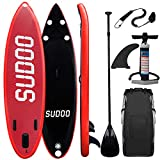Triclicks Tabla Hinchable Paddle Surf/Sup Paddel Surf Rojo/Negro con Bomba,...