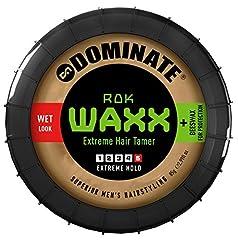 Idea Regalo - Dominate Rok Waxx - Cera per Capelli con Cera d'Api - Tenuta Forte Fattore 4 - Salon Series - Effetto Bagnato - 85g