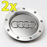 UG 2x Radkappen Ersatzkappen 146mm für Audi Farbe Grau Aluminium - für Felgen Lega