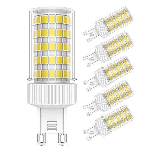 Lampadine G9 LED 10W Equivalente a 80W Lampada Alogena,800 LM,Bianca Fredda 6000K, Confezione da 5