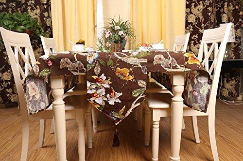 GGCCX Tischläufer Bambus Baumwolle Druck Pastoralen Stil Zu Hause Decke Tischläufer Brown 140*140 (Brown Print Zebra Bettwäsche)