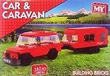 4 X 4 CAR AND CARAVAN BUILDING BRICK SET 147PC