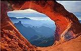 Hintergrundbild Wandsticker Wandtattoo Wanddekorationgroßegroße Benutzerdefinierte Wallpaper Wandbild Höhle Stein Wand Bunte Berg 3D 3D Große Hintergrund Wand Tapete-3D150 * 105 Cm