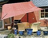 Eduplay Sonnenschutz Sonnensegel, 6x4m, Rechteck, rost