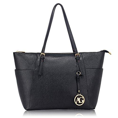 Frau Handtaschen Damen Groß Für Leinentrage Tasche Konstrukteur Imitat Leder Berühmtheit Stil Neu (Faux Croc Handtasche)