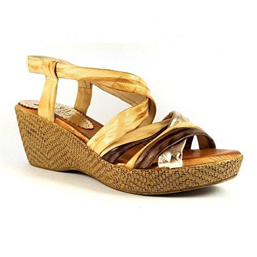 Marila - Scarpe con cinturino alla caviglia donna Oro