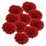non-brand MagiDeal 10pcs Künstliche Seidenblumen Pfingstrose Kunstblumen DIY Blumenstrauß für Hochzeit oder Haus - Rot