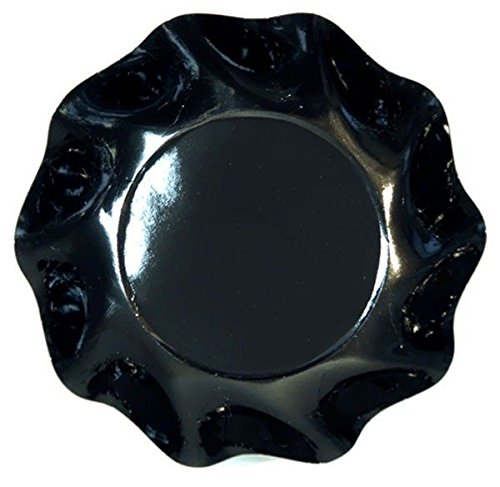 10 Assiettes coupelle Corolle noires